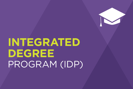 Decorative image reading Integrated Degree Program (IDP)