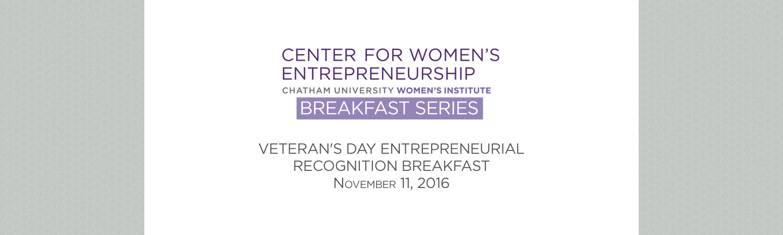 CWE Breakfast Series - Register Now!