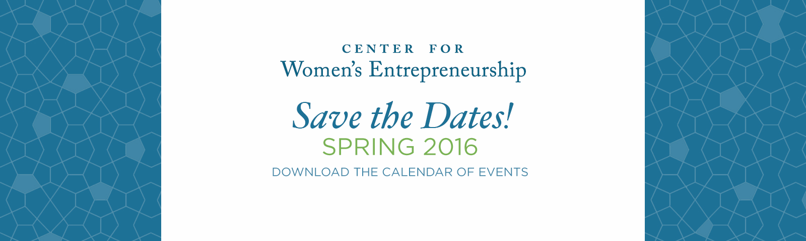 Save the Date - Spring 2016