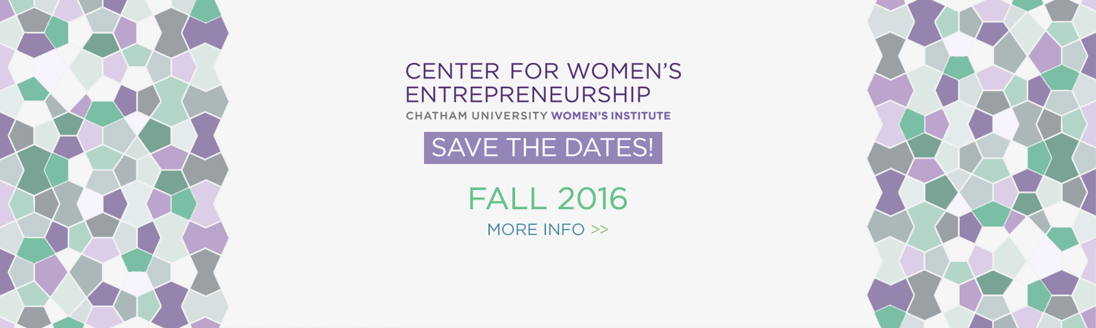 Save the Dates - Fall 2016